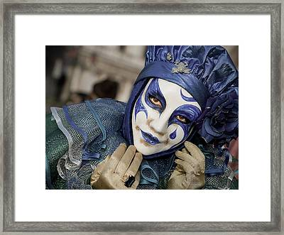 Blue Clown Framed Print