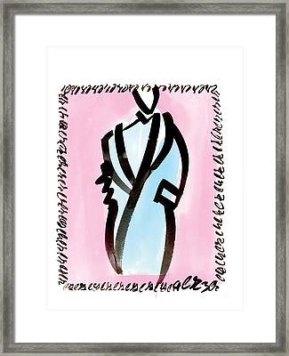 Blue Coat Framed Print