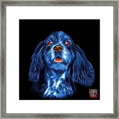 Blue Cocker Spaniel Pop Art - 8249 - Bb Framed Print