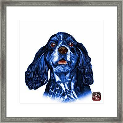 Blue Cocker Spaniel Pop Art - 8249 - Wb Framed Print