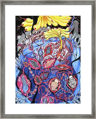 Blue Cocoon Framed Print by Shoshanah Dubiner