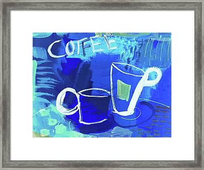 Blue Coffee Framed Print