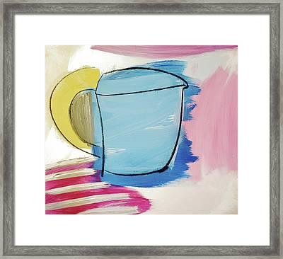 Blue Coffee Mug Framed Print