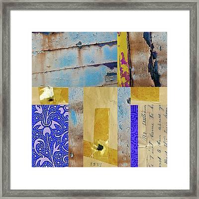 Blue Collage Framed Print