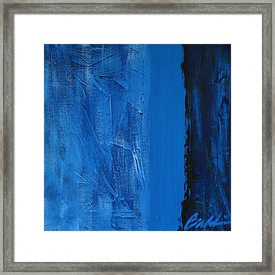 Blue Collar Framed Print