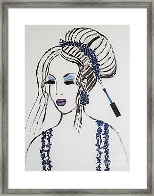 Blue Color Fan Framed Print