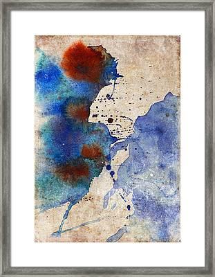 Blue Color Splash Framed Print