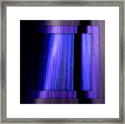Blue Column Art Framed Print by Joan Kamaru