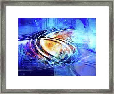 Blue Connexion Framed Print by Lutz Baar