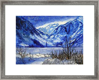 Framed Print featuring the painting Blue Convict by Pat Crowther