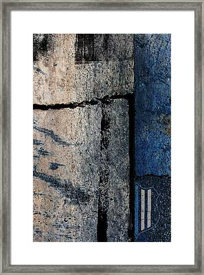 Blue Cop Trio Abstract #3 Framed Print