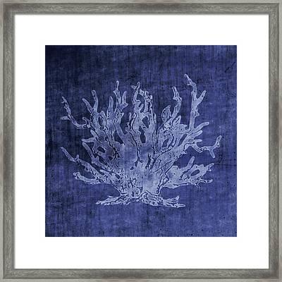 Blue Coral- Art By Linda Woods Framed Print