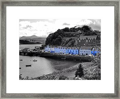 Blue Cottages At Portree Harbour 5 Framed Print