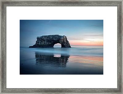 Framed Print featuring the photograph Blue Cotton Candy At Dusk by Quality HDR Photography