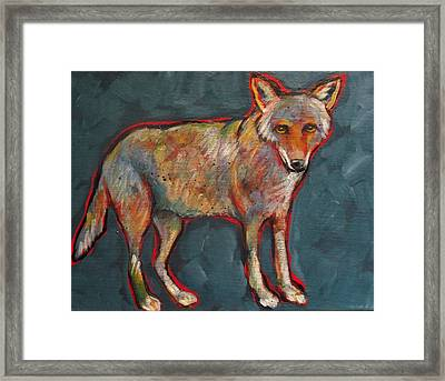 Blue Coyote Santa Fe Style Framed Print by Carol Suzanne Niebuhr