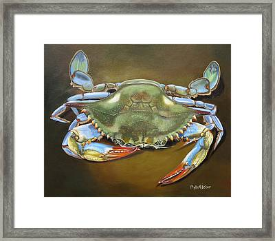Blue Crab Framed Print by Phyllis Beiser