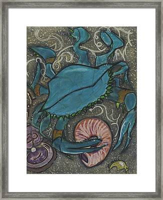 Blue Crab Framed Print by Stu Hanson