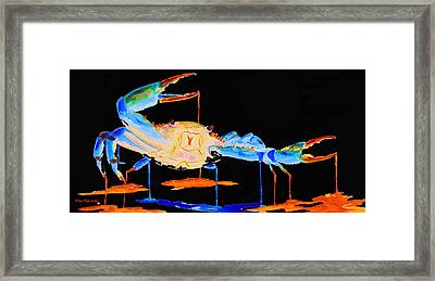 Blue Crab Two Framed Print