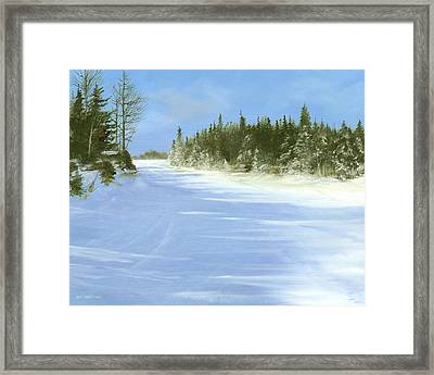 Framed Print featuring the painting Blue Cruiser by Ken Ahlering