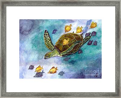 Blue Crush Framed Print