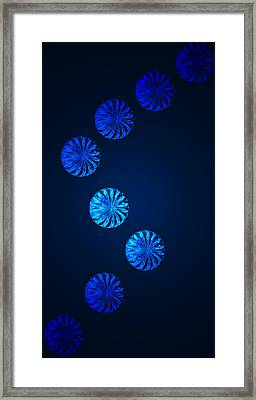 Blue Crystal Gaze Framed Print by Dave Byrne