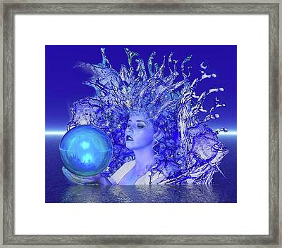 Blue Crystal Framed Print by Matthew Lacey