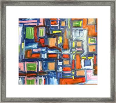 Blue Cube Framed Print by Alfredo Dane Llana