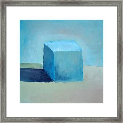 Blue Cube Still Life Framed Print by Michelle Calkins
