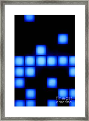 Blue Cubes Framed Print by Brandon Tabiolo - Printscapes