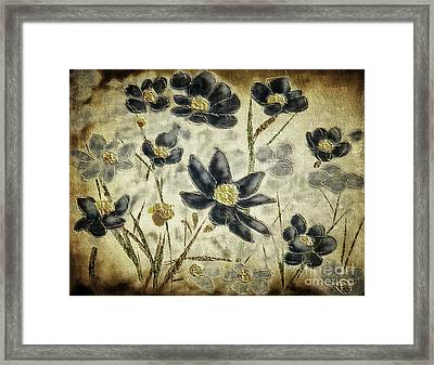 Blue Daisies Framed Print by Lois Bryan