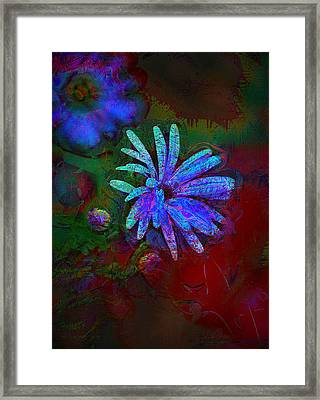 Framed Print featuring the photograph Blue Daisy by Lori Seaman