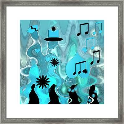 Blue Dance Framed Print