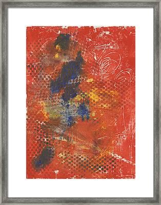 Blue Dancer Framed Print