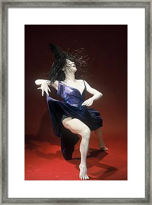 Blue Dancer Right View Framed Print by Gordon Becker