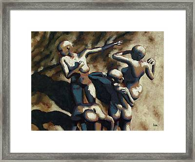 Blue Dancers Framed Print by Leo Mazzeo