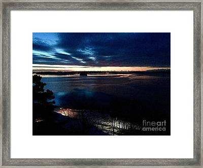 Blue Dawn On Casco Bay Framed Print