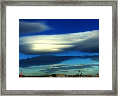 Blue Day Spain  Framed Print
