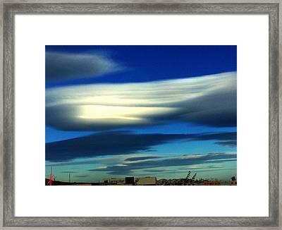 Blue Day Spain  Framed Print by Colette V Hera Guggenheim