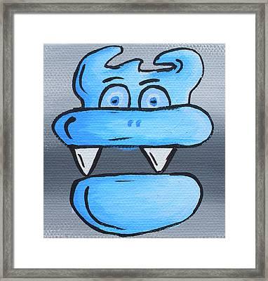 Blue Debil Framed Print