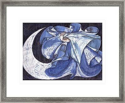 Blue Derwish Framed Print by Amrei Al-Tobaishi-Jarosch
