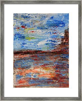 Blue Desert Framed Print