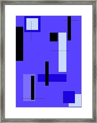 Blue Design 1 Vertical Framed Print