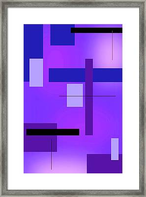 Blue Design 2 Vertical  Framed Print