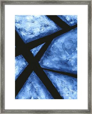 Blue Destiny An Original Contemporary Abstract Painting Original Art By Megan Duncanson Framed Print