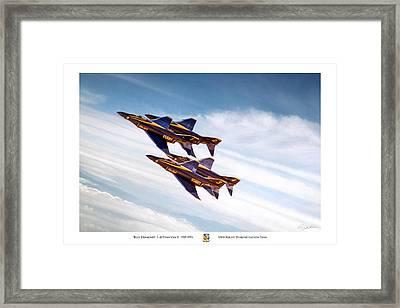 Blue Diamond Framed Print by Peter Chilelli