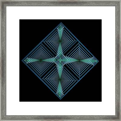 Blue Diamond Framed Print