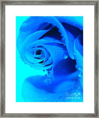 Blue Diamonds Framed Print by Krissy Katsimbras