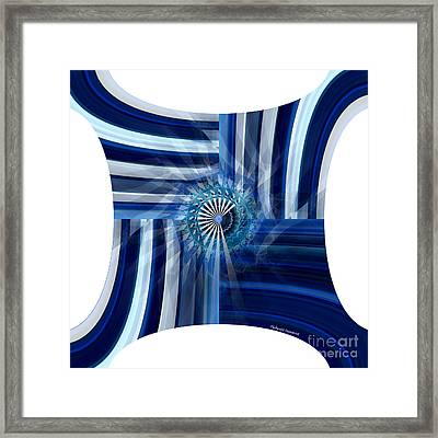 Blue Dimension  Framed Print