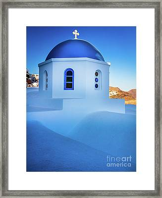 Blue Domed Chapel Framed Print