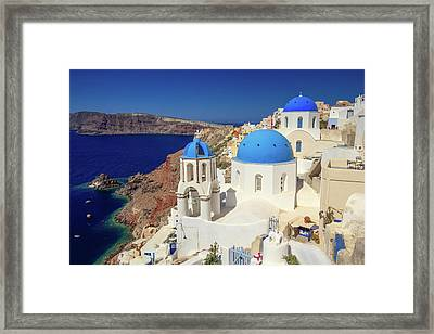 Blue Domed Churches Framed Print
